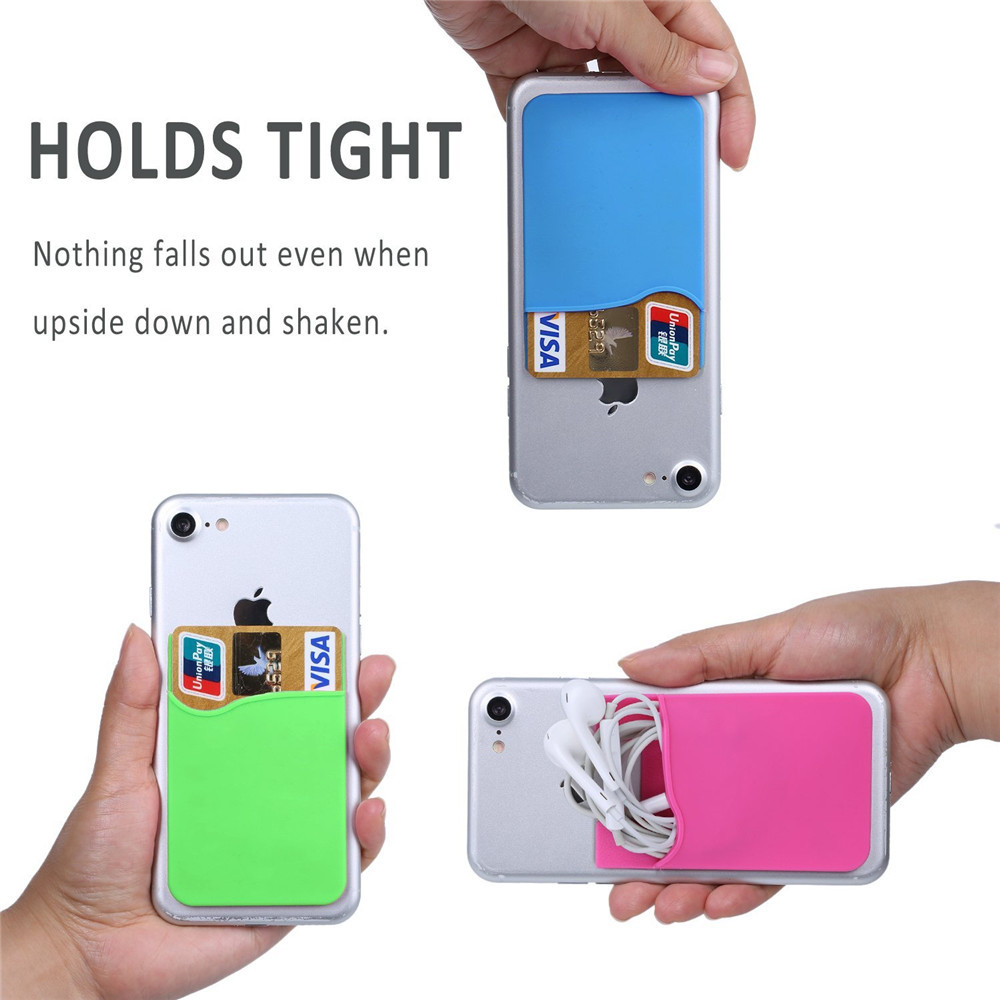 Phone Card Holder iPhone Android Credit Card Holder for iPhone,Samsung,HTC,Huawei,Motorola,Sony Smartphones