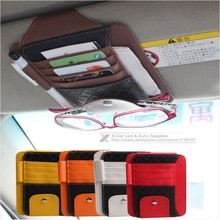 Sun Visor Multifunction PU Car Card Package Holder Glasses Storage Pen Organizer Car Hanging Bag Auto Accessories Pocket