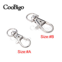 5pcs Metal Swivel Trigger Lobster Clasps Snap Hook Key Chain Ring Paracord Lanyard DIY Craft Outdoor Backpack Bag Parts Strap