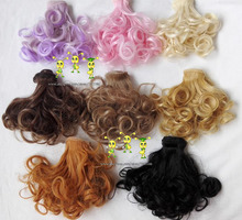 8 Colors 8Pcs/lot Hot Sale Dolls Wig Pear Head BJD SD DIY High-temperature Wire Handmade Doll Wigs 15*100CM(wholesale)