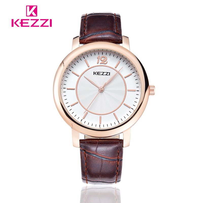 Kezzi Watch  Fashion Quartz Watches Leather Women Men watch Casual Dress Wristwatches  k1333<br><br>Aliexpress