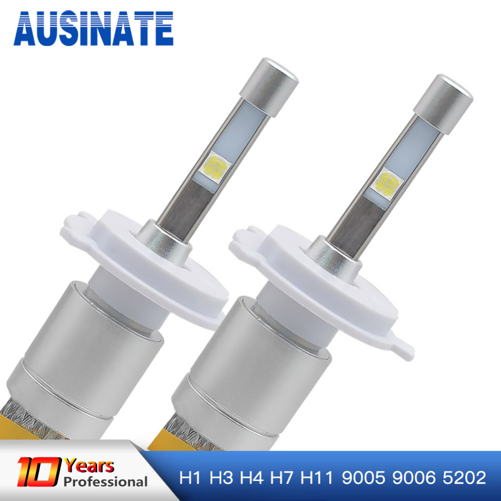 Cree LED 4-Sided 60W 8000K 4800LM Super Bright Headlight Bulb 9005 HB3 Pair