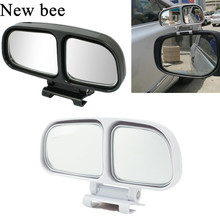 Newbee Adjustable HD Wide Angle Square Convex Blind Spot Mirror Car Truck Van Motorcycle Snap Way Auxiliary Parking Rear View(China)