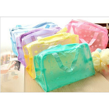 Waterproof PVC Transparent Travel Bags Women Cosmetic Cases Cosmetic organizer women pouch bags storage makeup Shower Bags 2017
