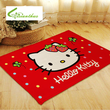 Cute Kawaii 60*150cm Hello Kitty Door Mat Ground Flannel Carpets of Living Room Bedroom Rug Carpeted Baby Kids Room Floor Mats(China)