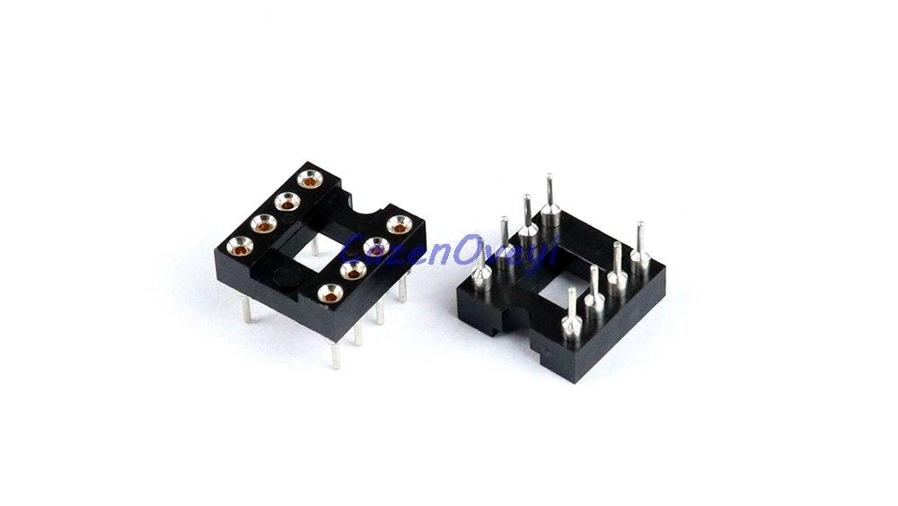Firma i Przemysł 20PCS DIP-8 IC Sockets Machined Round Contact Pins Holes Pitch 2.54mm DIP8 DIP 8