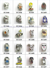Multiples options cute animal Cartoon characters Floating Locket glass Charm Fit Living Floating Memory locket As Christmas Gift