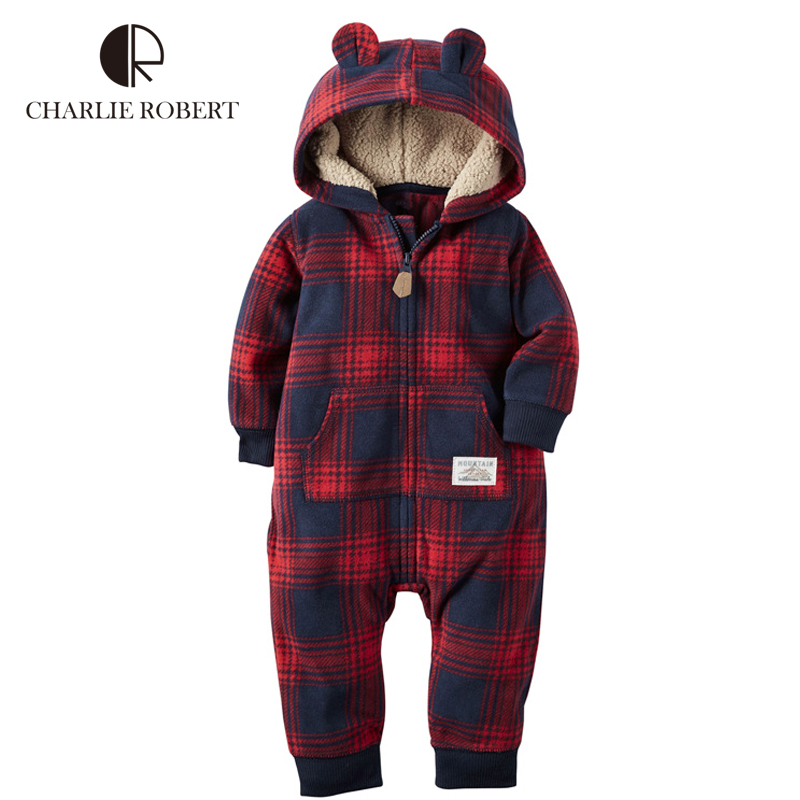 Hooded Baby Clothing Baby Girls Boys Romper Newborn Infant Winter Jumpsuit Cotton Long Sleeve Outerwear Costume Kids Clothes<br><br>Aliexpress