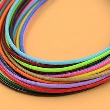 (10 m/piece) 2MM Diameter Waxed Thread Polyester Cord String Strap Wholesale Necklace Rope Bead Fitting shamballa Bracelet(China)