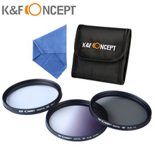 62mm Filter Set Graduated Grey Filter + CPL Filter + Star 8-Point Filter Kit with Case for Canon Nikon Sony DSLR Camera Lens