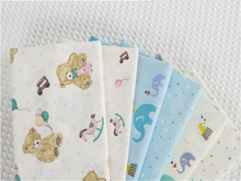 6pcs /lots 40cm * 50cm cartoon smal elephant cotton fabric for Sewing Patchwork Quilting Doll Cloth Handmade Needlework Material