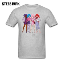 Mens Summer Shirts Short Sleeve Jem and the Holograms Hombre 100% Cotton Short Sleeve Shirts 2017 Fashion Men's T Shirt Logo