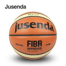 Own Factory Made Official Size 7 Men's Basketball Jusenda GJ7X Ball PU Leather Indoor Outdoor Basketball Ball With Ball Net+Pin(China)