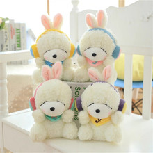 kawaii Earphone Rabbit Plush Toys Rabbit Doll Kids Gifts 4Styles 22CM Bunny Stuffed Animal  Rabbit Toy Gift Birthday Gifts