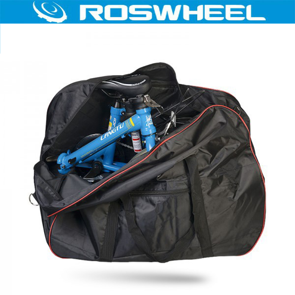 ROSHWEEL 2 in 1 Folding Bike Package Bag + Handlebar/Saddle Storage Bag Folding Bicycle Packing Bag Loading Package Panniers<br><br>Aliexpress