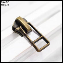 5# Wholesale 10pcs Zipper Sliders Metal zipper puller zipper pull For Handbag/ Backpack/Clothing/Sewing Tailor Tools 038(China)