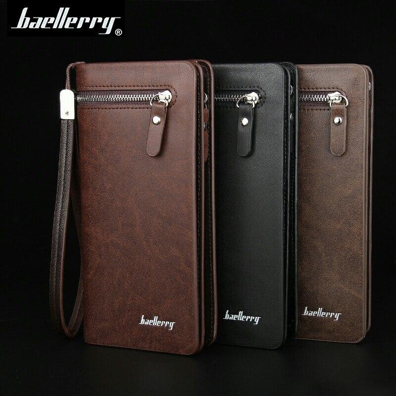 New Baellerry Men Casual Wallets Men Purse Clutch Pu Leather Wallet Long Design Men Business Card Holder Carteiras<br><br>Aliexpress