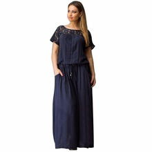 Buy 2017 Navy Summer Dress Plus Size Women Clothing Large Size Loose Lace Dress Big Size Short Dress 6XL Casual Women Dress Vestidos for $11.24 in AliExpress store