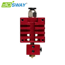 3DSWAY Design for High Quality Improved Version All metal Hotend Kit Red Color 0.4mm/1.75mm Single Nozzle for 3D Printer