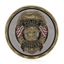 St Michael Police Officer Badge Patron Saint Commemorative Challenge Coin Art