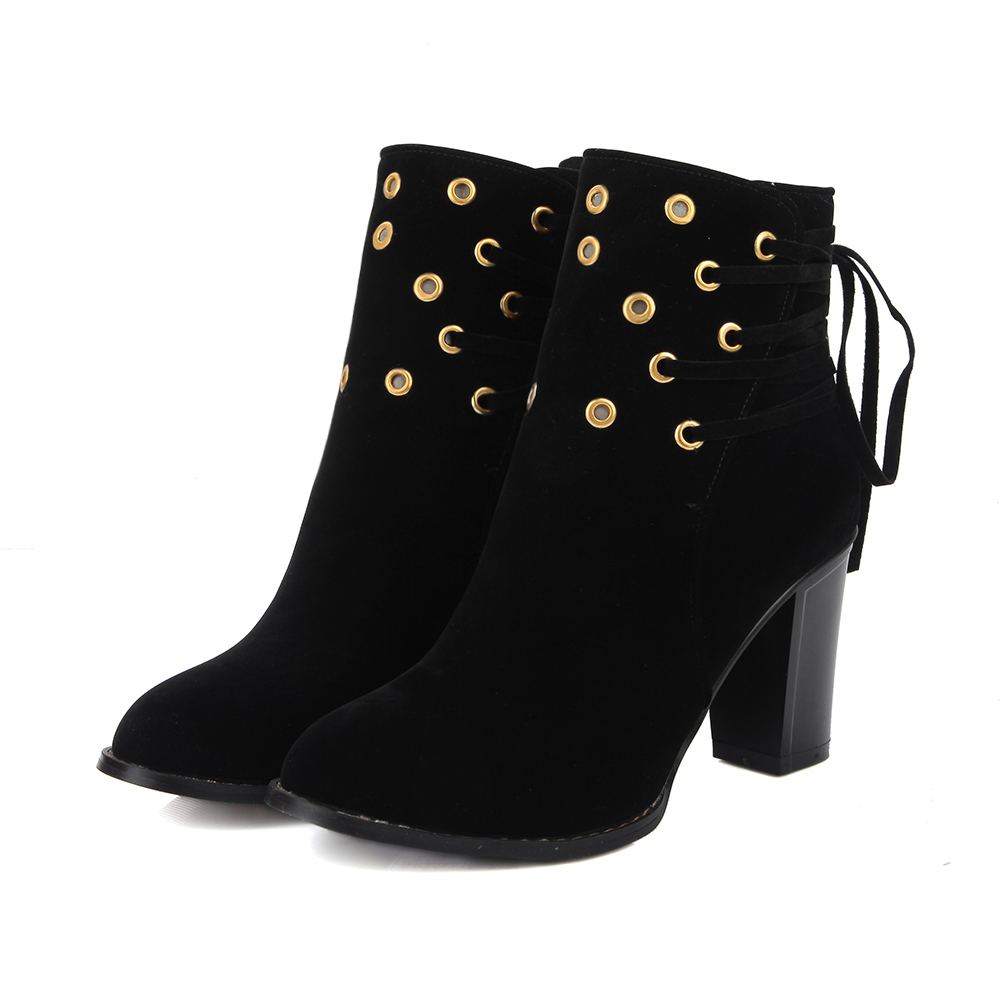 size34-43 New Women High Boots Sexy Round Toe Ankle Boots Winter Shoes Zip Platform Martin Boots Black Red green<br>