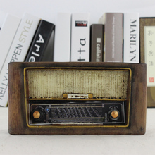 Retro do the old resin old radio storefront window bar crafts ornaments home decorations ornaments