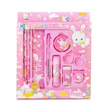 Child Birthday gift wholesale stationery set small gifts Elementary school students in kindergarten prizes Pencil eraser ruler