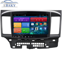 1024*600 Quad Core 10.2inch Android 4.4 Car DVD for Mitsubishi Lancer 2008- With Bluetooth 16GB Nand Flash 3G Wifi Mirror Link