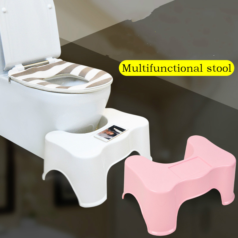 Childrens bath toilet plastic pad footstool old pregnant women anti-skid plastic small square stool multifunctional footrest<br>