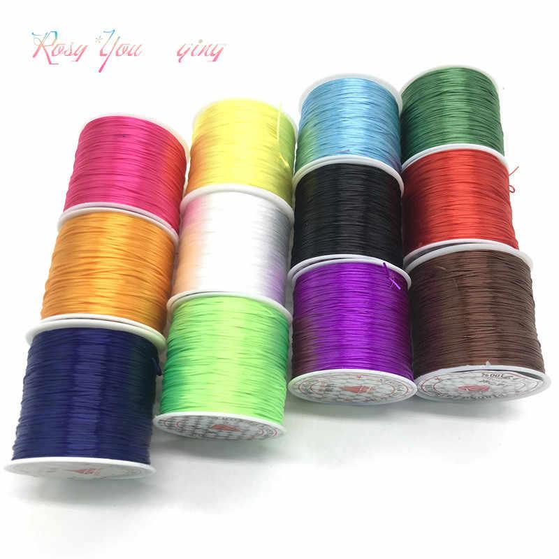 50m Flat Elastic Beading Stretch String Cord Thread Jewlery 1mm Making Thread