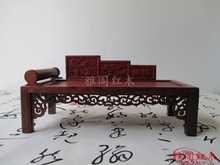 The new factory direct red wood small furniture wood crafts ornaments Royal bed models mixed batch