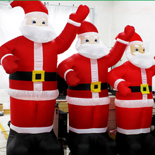 6 size Inflatable Santa Claus Waving Hand Christmas Inflatable Santa Claus Cute Xmas Decoration Outdoor Inflatable Statues(China)