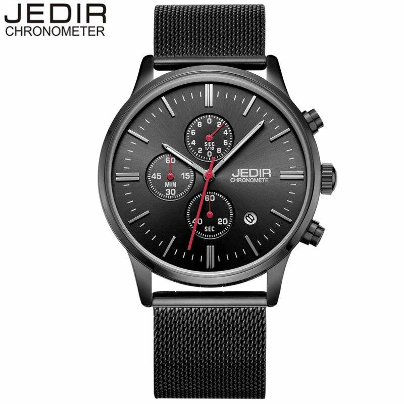 New Fashion JEDIR Luxury Men Stainless Steel Mesh Band Quartz Watch Man Military Sport Waterproof Wristwatch relogio masculino<br><br>Aliexpress