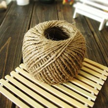 100 Meters / 110 Yards  New Arrival Vintage 2mm Natural Hessian Burlap Jute Twine Rope Ribbon For DIY Craft Wedding Party Decor