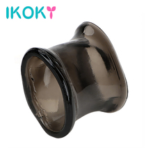 Buy IKOKY Penis Sleeve Cock Ring Sex Toys Men Male Chastity Cage Enlargement Penis Ring Silicone Adult Product Delay Ejaculation
