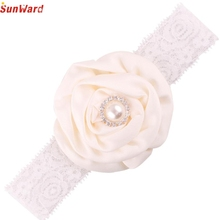 SunWard Newly Design 1 PC Pearl Rhinestone Lace Headbands Little Girl Fashion Jewelry Hair Accessories Headwear Sep23