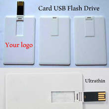 (30pcs Free logo) 100% capacity 4GB 8GB 16GB 32Gb 64GB credit card USB Flash Drive customized logo top quality Creative Pendrive
