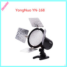 Yongnuo YN-168 YN168 LED Video Light 168LED Illumination lamp Camcorder with 4color plate for Canon Nikon DSLR Camera