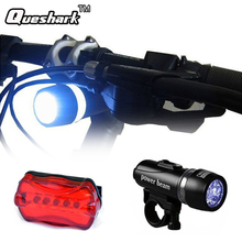 5 Led Bicycle Front Head light+Tail light Set Waterproof Road MTB Mountain Bike Rear Light Cycling Lamp Flashlight Accessories