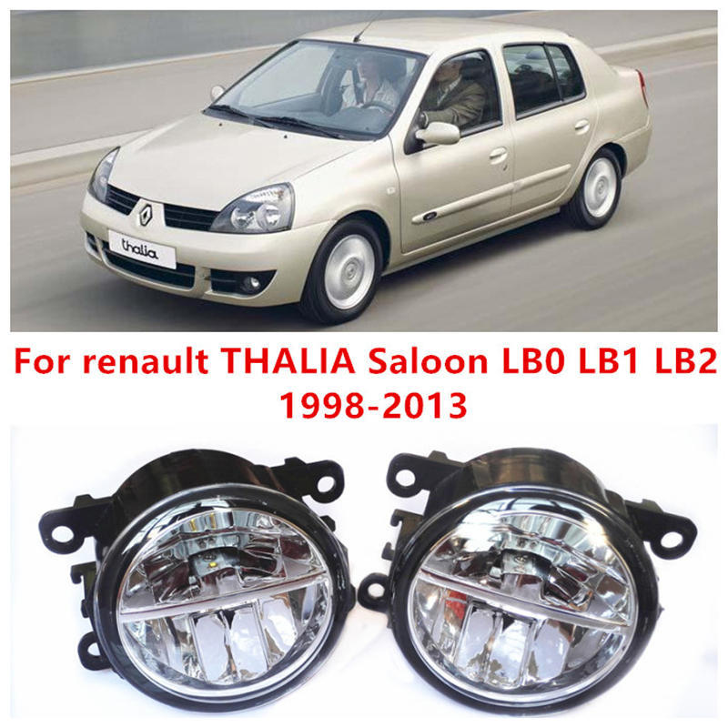 For renault THALIA Saloon LB0 LB1 LB2  1998-2013 Fog Lamps LED Car Styling 10W Yellow White 2017 new lights<br><br>Aliexpress
