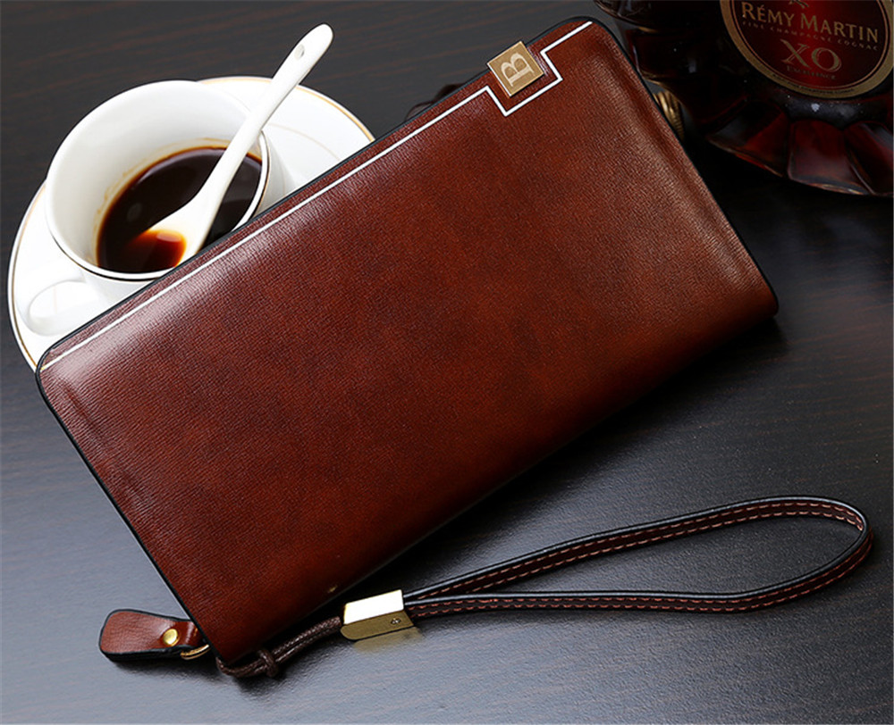 New Multi-function Business Men wallets class PU leather purse Business polishing long leather wallets D1059-6<br><br>Aliexpress