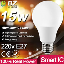 Real Power LED Bulb E27 LED Lampada Ampoule Bombilla 3W 5W 7W 9W 12W 15W 18W LED Lamp 220V Cold/Warm White Led Spotlight(China)