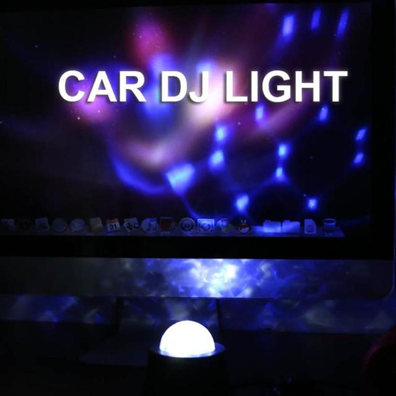 Universal 12V 6 LED Car Interior Music Rhythm Light Auto Sound Activated Crystal Magic Ball DJ Flash Strobe Decoration Lamp