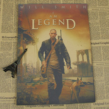 Will Smith film poster kraft paper decorative painting I Am Legend/Independence Day/Men in Black/wall sticker/Kraft Poster