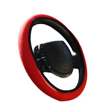 High density mesh Auto Car Steering Wheel Cover / braid summer Breathable Steering-Wheel Covers Ice silk Fabric