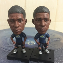 Soccerwe 2016-17 Square Base Series 6.5 cm Height Football Doll United 19 Rashford Resin Doll Black Jersey(China)