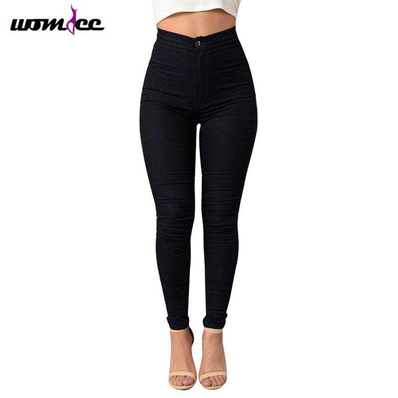 Fashion Slim Jeans Women Femme Female 2017 White Jeans With High Waist Tight Jeans Womens Candy Color New Pants Women TrousersОдежда и ак�е��уары<br><br><br>Aliexpress