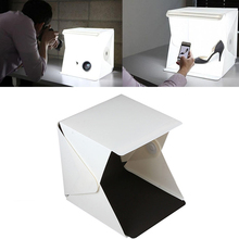 Free Shipping Professional Accessories Mini Photo Studio Box Portable Photography Lighting Backdrop built-in Light Photo