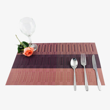 Promotion European Style Dining Table Insulation Pads Stripe Patchworks Luxury Kitchen Table Decoration Tableware Placemats