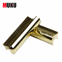 Free Shipping Solid Stainless Steel Tone Bar Guitar Slide for Hawian Guitar Gold/Silver